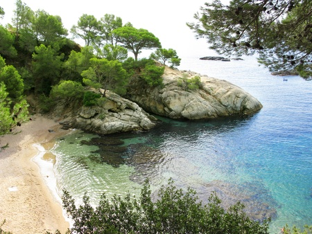 Beautiful creek with rocks and nature in Costa Brava  Spain  photo