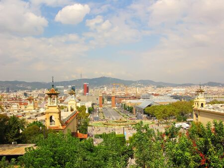 General view of Barcelona city photo
