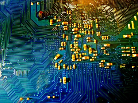 nanotechnology: Abstract motherboard card background  New technologies