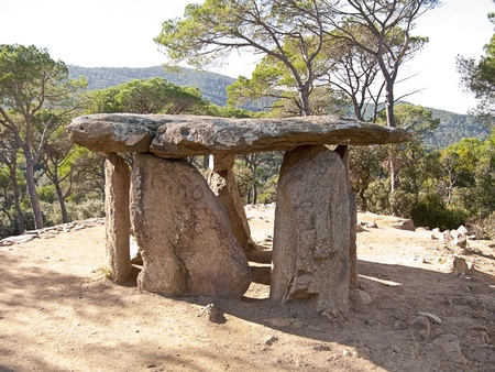 stoneage: A very old dolmen situated in a place near Barcelona (Spain)