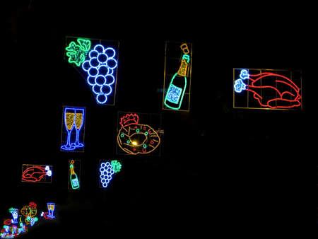 Christmas lights in Barcelona street photo