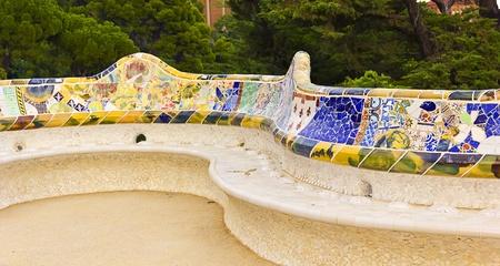 Park Güell in Barcelona, build by Antoni Gaudí. Representative of modernism architecture