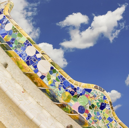 Park Güell in Barcelona, build by Antoni Gaudí. Representative of modernism architecture photo