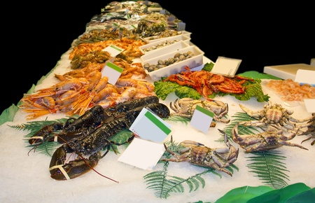 Variety of fresh shellfish in the market Stock Photo - 13493673