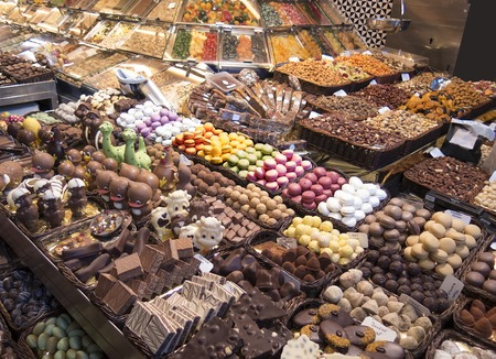 boqueria: Stall of sweets in La Boqueria