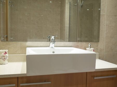 Clean contemporary bathroom sink image