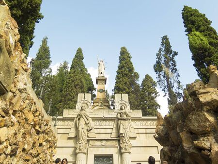 Luxury crypt on Montjuic Cemetery, Barcelona, Spain.