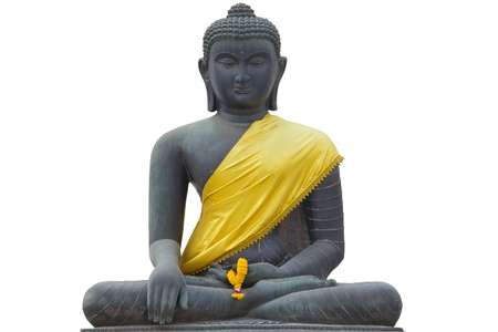 statue buddha isolate white backgruond