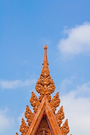 thai temple and blue sky