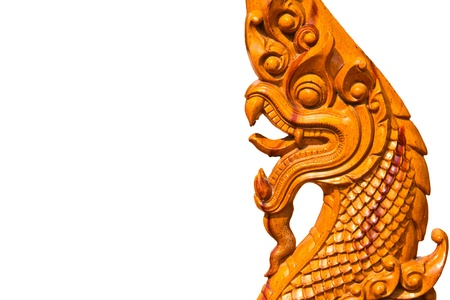 statue king of nagas isolate Stock Photo