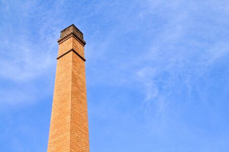 chimney and blue sky Stock Photo
