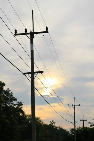 power electric line Stock Photo