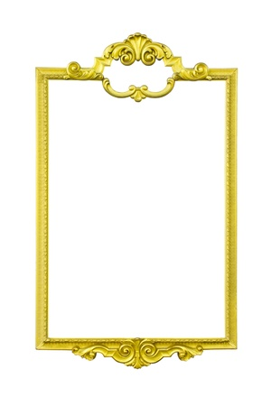 golden frame thai style on white background Stock Photo - 13653101