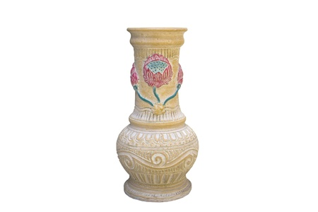 flower pottery isolate