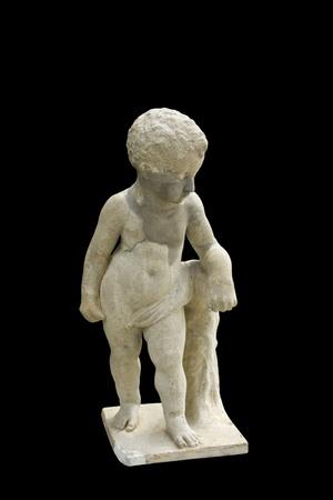 statue boy isolate