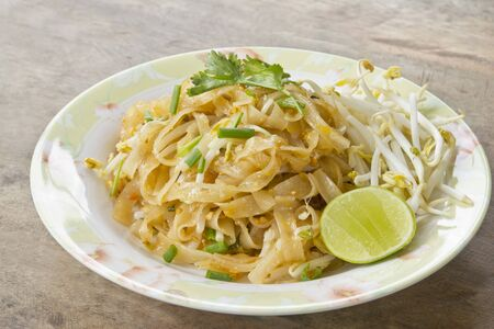 stir fry noodle thai food style, Pad thai  photo