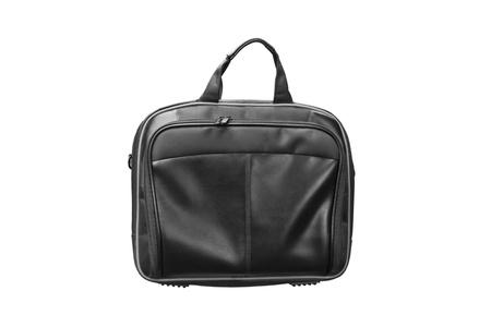 Laptop leather bag isolate on white background  photo