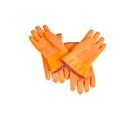 Glove freeze protect isolate on white background photo