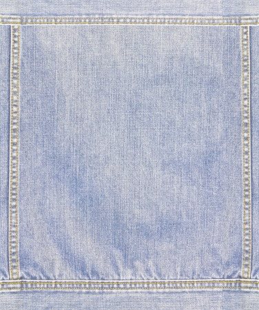 Close up the blue jean jacket texture Stock Photo