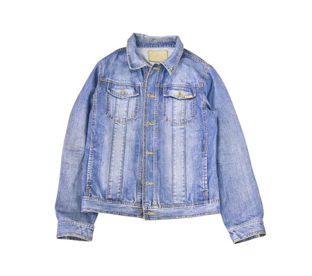 The blue jean jacket isolate on white background