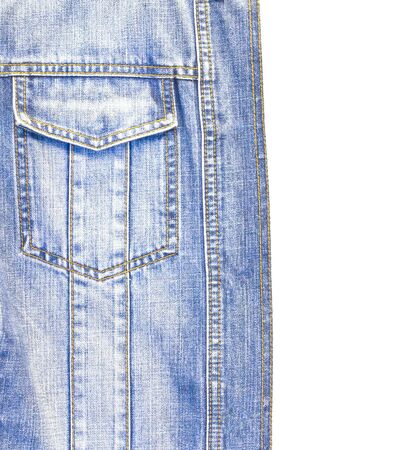 Close up the blue jean jacket texture photo