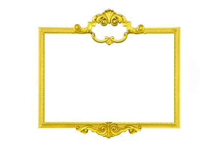 gold frame isolate on white background
