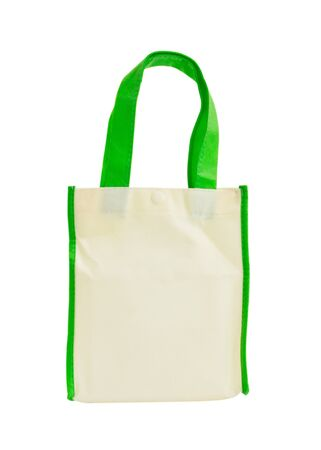 Fabric hand bag isolate on white background Stock Photo