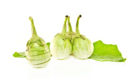 eggplant isolate on white background Stock Photo