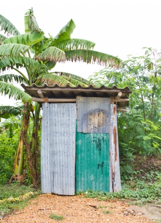 cesspool: the toilet in countryside of thailand Stock Photo