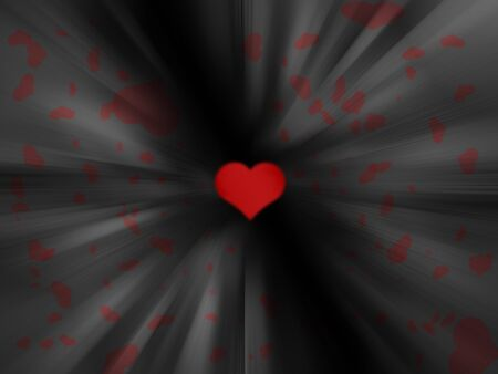 Red heart in abstract background