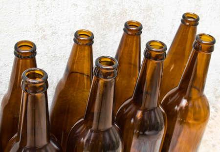 Pile of empty beer bottle