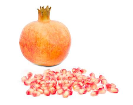 Pomegranate isolate  on white background Stock Photo