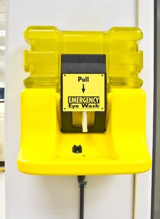 Emergency eye wash station