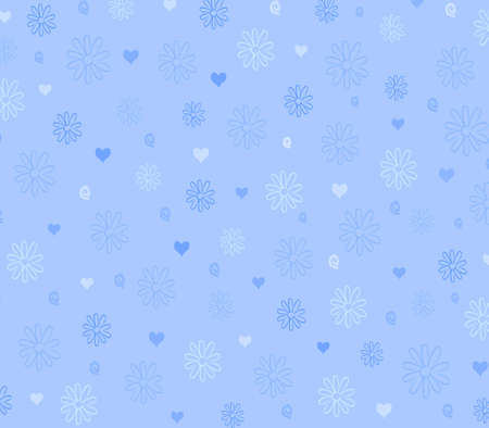 pattern of flower and heart background photo