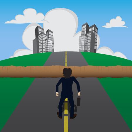 Businessman found barrier,vector illustration