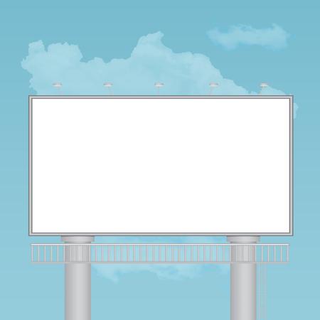 Outdoor billboard vector illustration Illustration