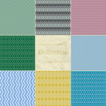Seamless patterns collection vector illustration  Illustration