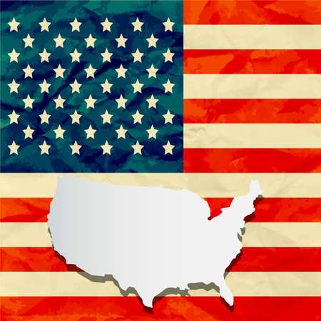 america flag paper texture Illustration
