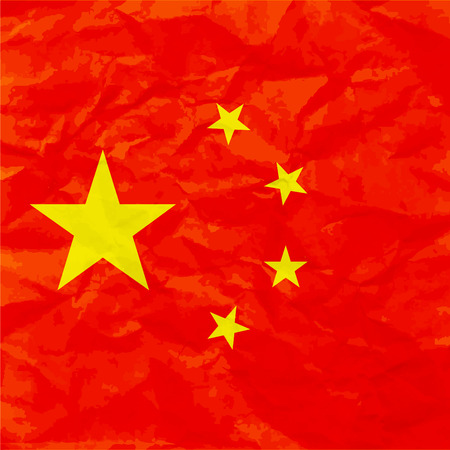 China flag on paper texture