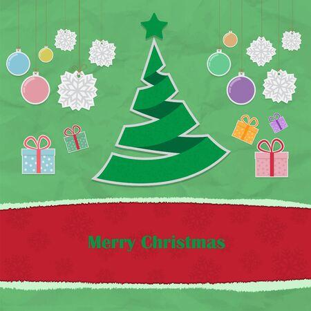 Christmas paper theme vector illustration
