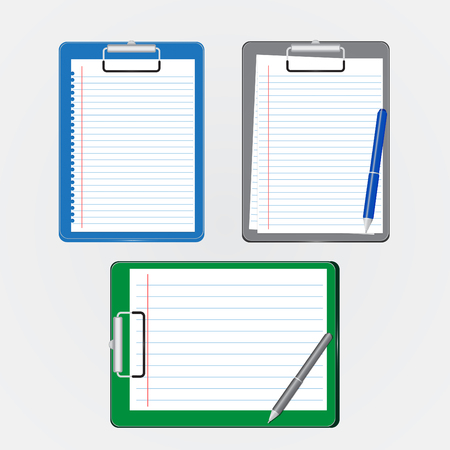 Clipboard and pen vector Illustration