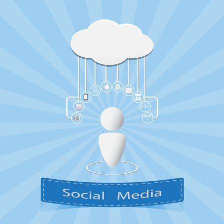 Social media background vector illustration Illustration