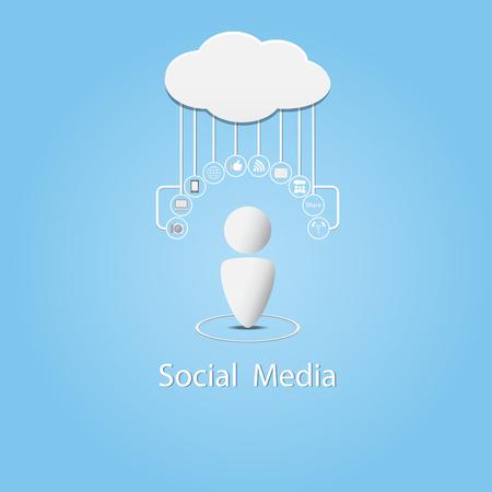 Social media background vector illustration Vector