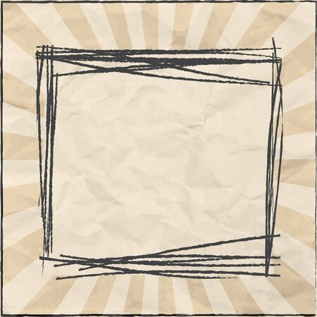 frame for message on old paper texture