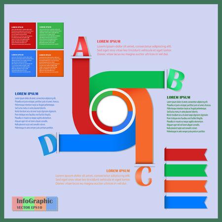 Business flowchart infographics element