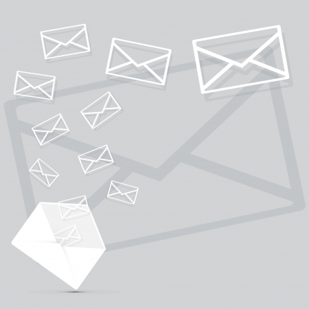 Mail icons background vector illustration
