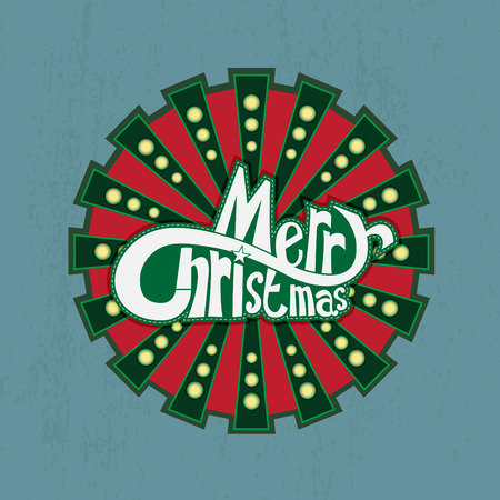 Christmas banner on grunge background vector illustration