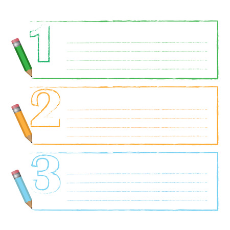 Stroke frame of color pencil three step