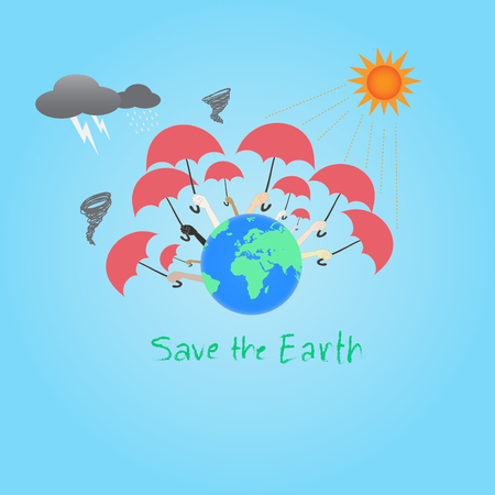 save the earth concept vector illustration Stock Vector - 23922370