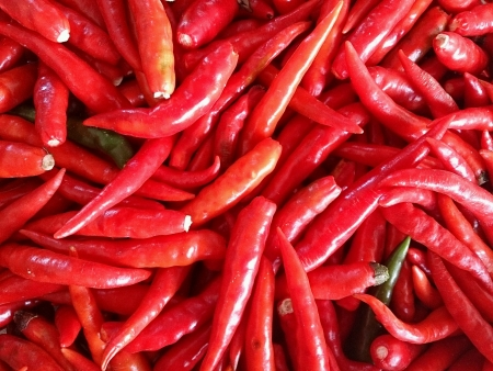 peppery: red chilli